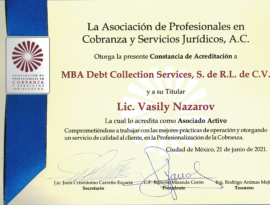 MBA Debt Collection Services become the member of APCOB Association